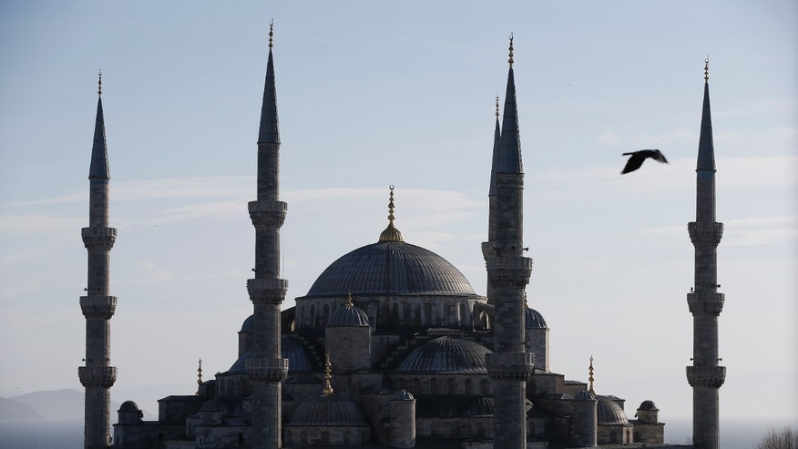 FILE -- A view of the Sultan Ahmed Mosque, better known as the Blue Mosque in the historic Sultanahmet district of Istanbul.