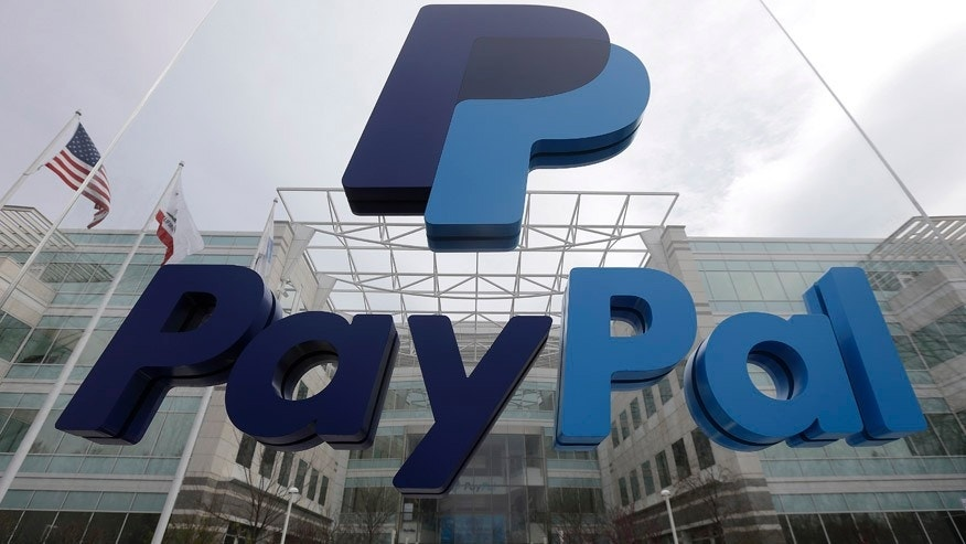 March 10, 2015: Signage outside PayPal's headquarters in San Jose, Calif.