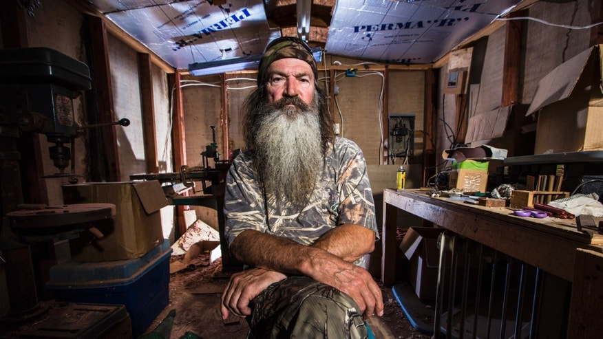 "FILE -- This undated image released by A&E shows Phil Robertson from the popular series ""Duck Dynasty."""