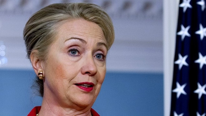 FILE -- Democratic presidential candidate Hillary Clinton