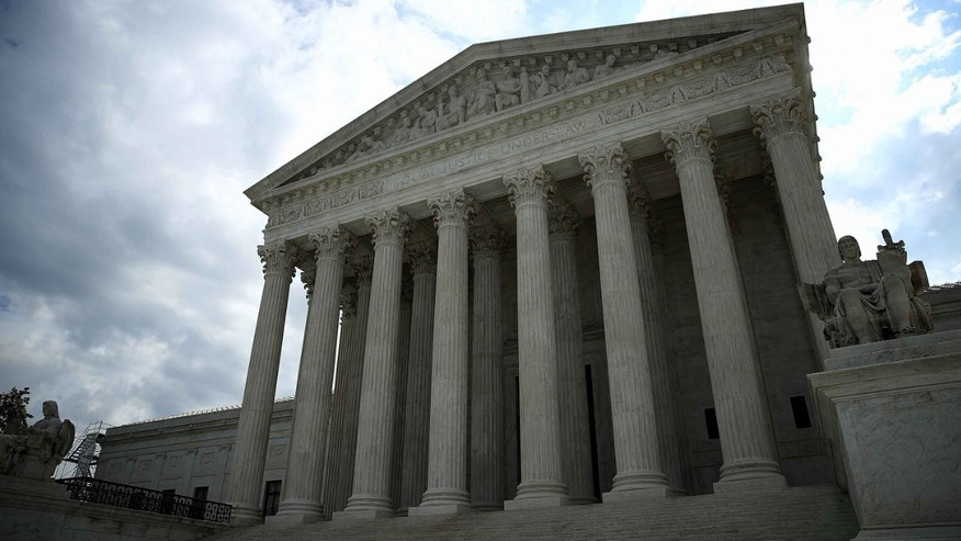 WASHINGTON, DC - MAY 23:  The U.S. Supreme Court is shown as the court meets to issue decisions May 23, 2016 in Washington, DC. The court today sided in a 7-1 decision written by Chief Justice John Roberts with a Georgia inmate on death row in his appeal to the court citing efforts by prosecutors to exclude African Americans from a jury panel in the murder case.  (Photo by Win McNamee/Getty Images)