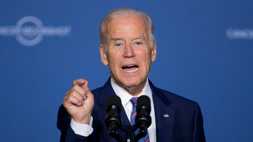 June 29, 2016: Vice President Joe Biden speaks at the Cancer Moonshot Summit at Howard University in Washington.