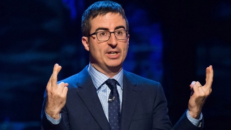 """Feb. 28, 2015: John Oliver speaks at Comedy Central's """"Night of Too Many Stars: America Comes Together for Autism Programs."""""""
