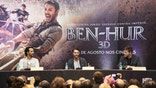 "SAO PAULO, BRAZIL - AUGUST 02: (L-R) Rodrigo Santoro and Jack Huston attends the Photocall and Press Conference for the Brazil Premiere of the Paramount Pictures title ""Ben-Hur,"" on August 2, 2016 at Hotel Unique in Sao Paulo, Brazil. (Photo by Mauricio Santana/Getty Images for Paramount Pictures)"