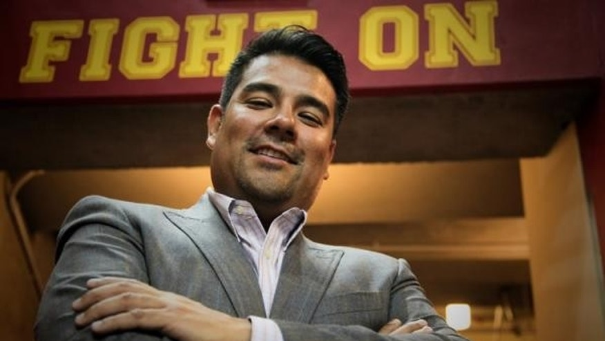 State Sen. Ricardo Lara, D-Calif., at his alma mater, the University of Southern California. Lara is author of the SB 1146 bill.
