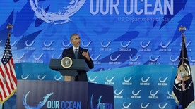 President Barack Obama speaks at the Our Ocean, One Future conference at the State Department in Washington, Thursday, Sept. 15, 2016. The conference focuses on marine protected areas, sustainable fisheries, marine pollution, and climate-related impacts on the ocean. (AP Photo/Carolyn Kaster)