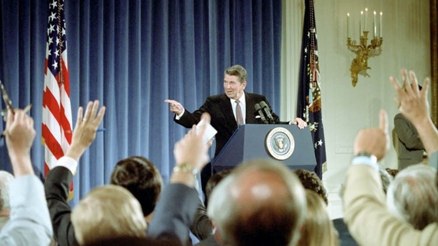 June 28, 1983: President Reagan at his 18th press conference in the East Room