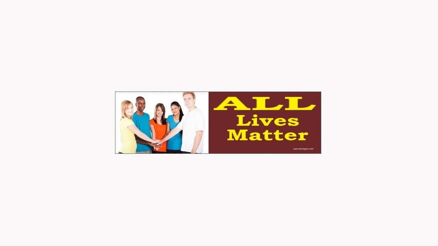 1280 All Lives Matter bumper sticker