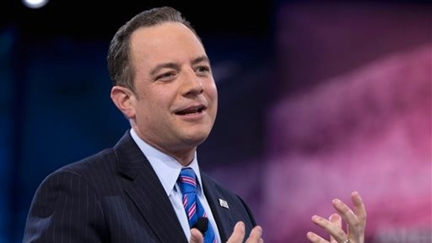 FILE -- Reince Priebus speaks in National Harbor, Md.