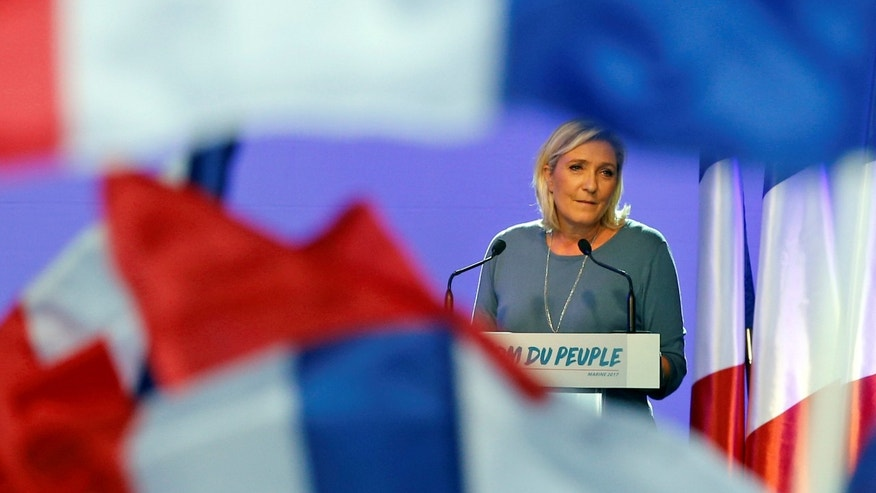 September 18, 2016: French National Front (FN) political party leader Marine Le Pen delivers a speech during a FN political rally in Frejus, France.