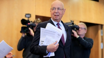 World Economic Forum (WEF) Executive Chairman and founder Klaus Schwab arrives at a news conference in Cologny, near Geneva, Switzerland January 10, 2017. REUTERS/Pierre Albouy - RTX2YB5C