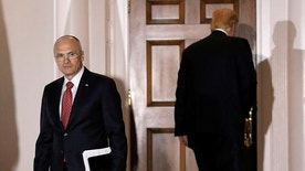 Andy Puzder, CEO of CKE Restaurants, departs after meeting with U.S. President-elect Donald Trump at the main clubhouse at Trump National Golf Club in Bedminster, New Jersey, U.S., November 19, 2016.  REUTERS/Mike Segar - RTSSFQ0