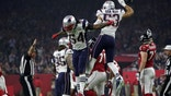 New England Patriots' Dont'a Hightower (L) and Kyle Van Noy celebrate after New England recovered the ball during the fourth quarter against the Atlanta Falcons at Super Bowl LI in Houston, Texas, U.S., on February 5, 2017. REUTERS/Adrees Latif - RTX2ZR9O