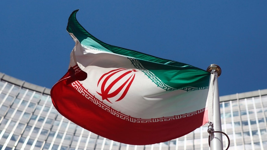 FILE -- June 17, 2014 - An Iranian flag at United Nations headquarters in Vienna.
