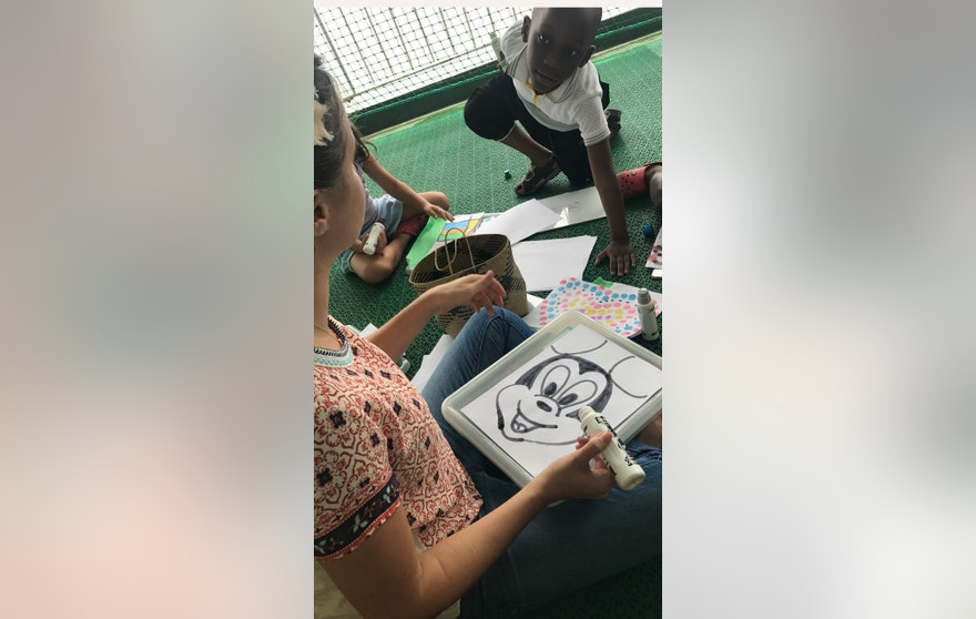 Dana Perino Mercy Ships Miss Beth drawing Mickey