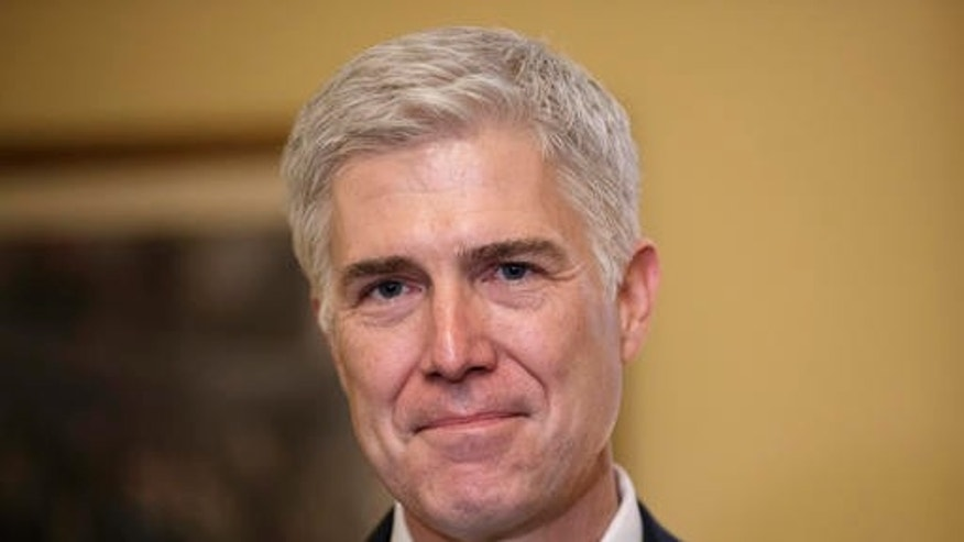 FILE -- Supreme Court Justice nominee, Neil Gorsuch.