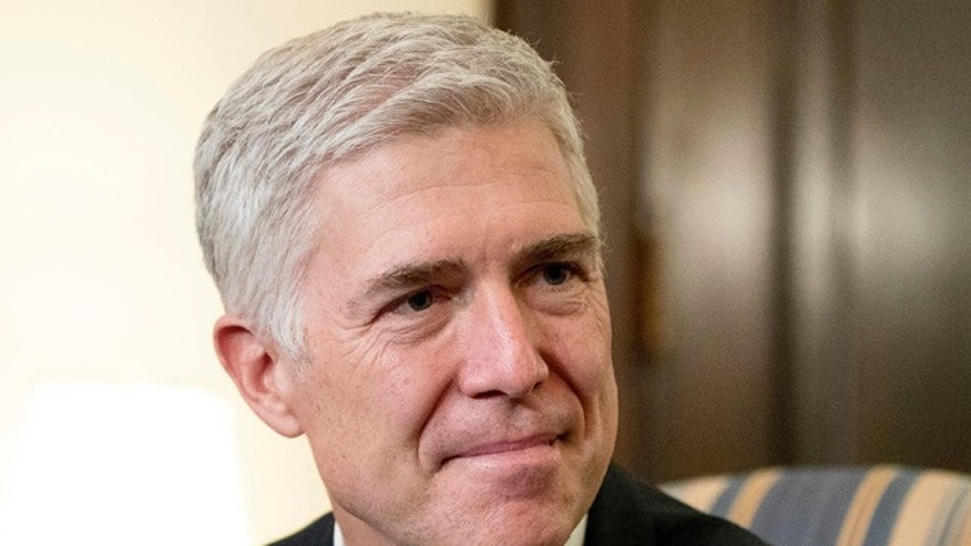 FILE -- February 14, 2017: Judge Neil Gorsuch on Capitol Hill.