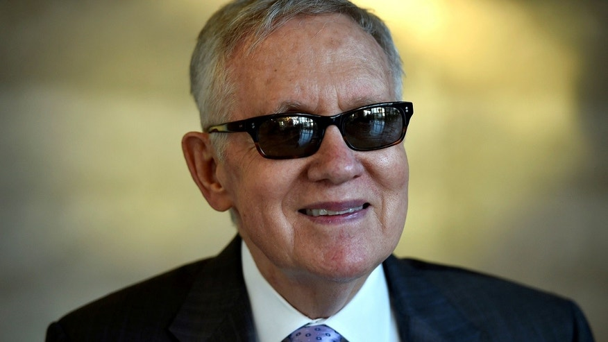 Former U.S. Senator Harry Reid (D-NV) smiles during an interview with Reuters in Las Vegas, Nevada, U.S. August 25, 2016.