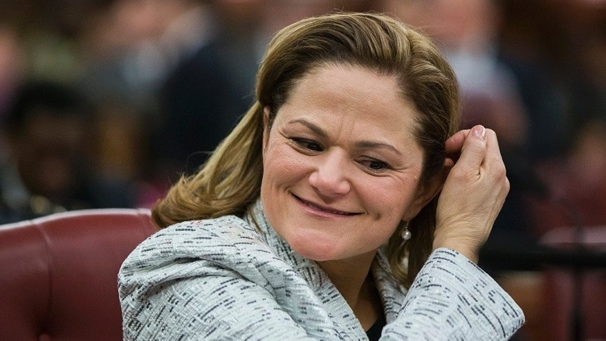 FILE -- New York City councilwoman Melissa Mark-Viverito smiles after being elected speaker of the city council inside of City Hall in the Manhattan borough of New York January 8, 2014.