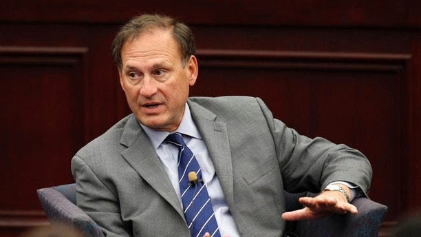 FILE: Sept. 14, 2012: Supreme Court Associate Justice Samuel Alito speaks at Roger Williams University Law School in Bristol, R.I.