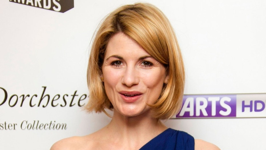 "FILE - In this file photo dated Monday, Jan. 27, 2014, British actress Jodie Whittaker, who starred in TV series Broadchurch, arrives for South Bank Sky Arts Awards 2014, held at the Dorchester hotel in central London. The BBC has announced Sunday July 16, 2017,  Jodie Whittaker is the next star of the long-running science fiction TV series ""Doctor Who"" set to become the first woman to take the leading title role.  (FILE Photo by Joel Ryan/Invision/AP)"
