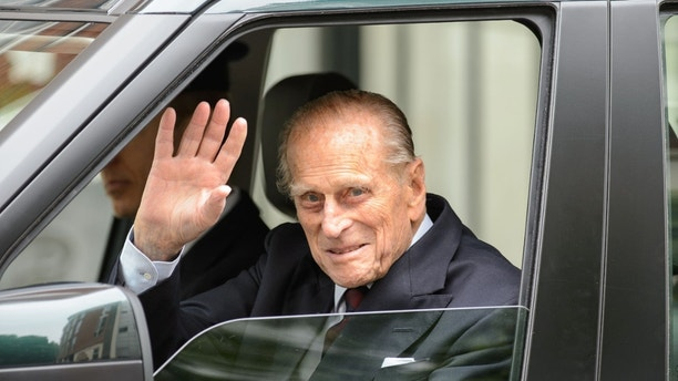 June 17, 2013 - Britain's Prince Philip leaves the London Clinic in central London, Monday . The husband of Queen Elizabeth II, who turned 92 last week walked out 10 days after undergoing exploratory surgery on his abdomen. Prince Philip, the grandfather of political incorrectness Prince Philip, the grandfather of political incorrectness 1501787560067