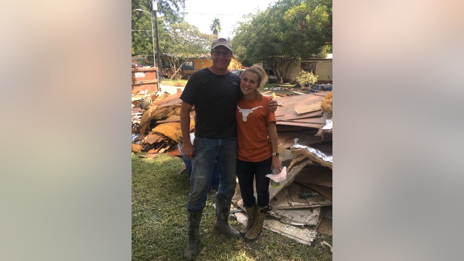 The author serving others in La Grange, Texas in the aftermath of Hurricane Harvey
