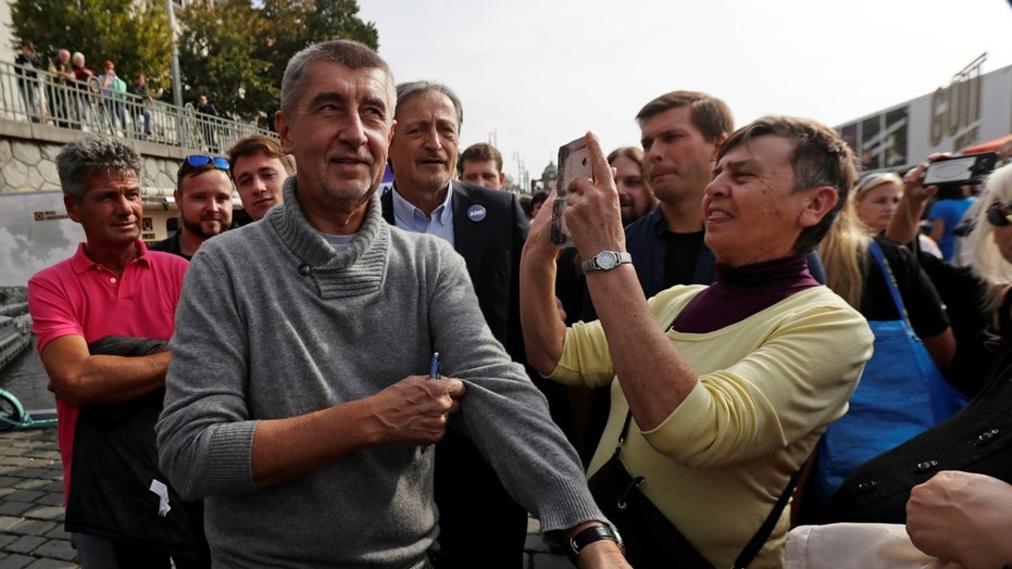 FILE -- The leader of ANO party Andrej Babis arrives at an election campaign rally in Prague, Czech Republic September 28, 2017.