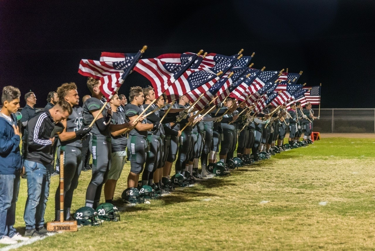 What these teen football players did to Old Glory will make you proud to be an American
