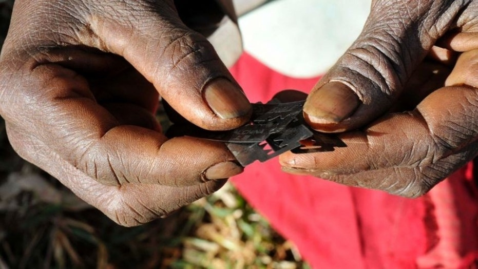 Razor blades often used before carrying out female genital mutilation.