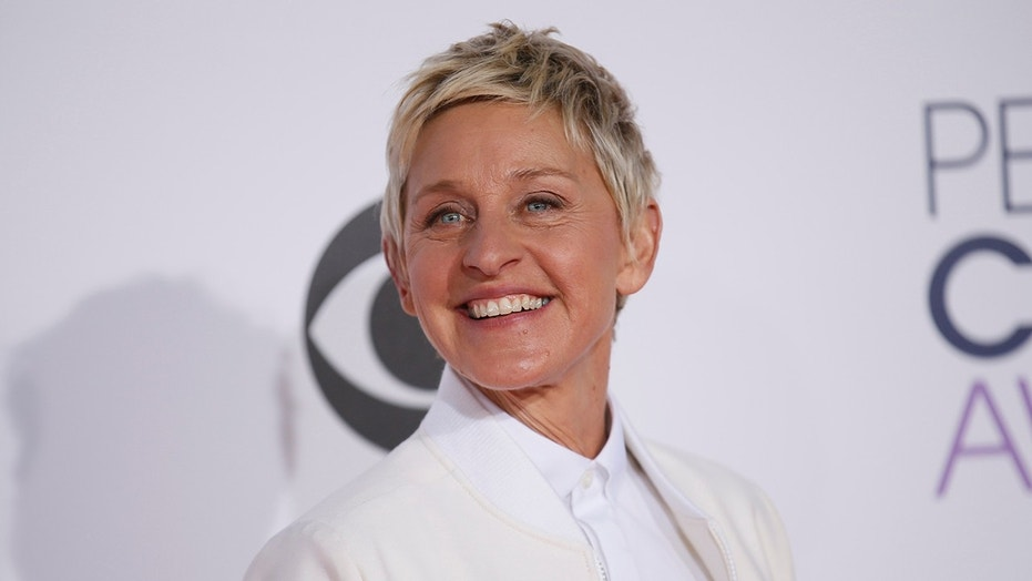 FILE -- TV personality Ellen DeGeneres arrives at the 2015 People's Choice Awards in Los Angeles, California January 7, 2015.