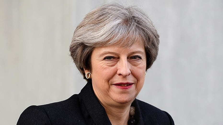 Britain's Prime Minister Theresa May in London, November 16, 2017.