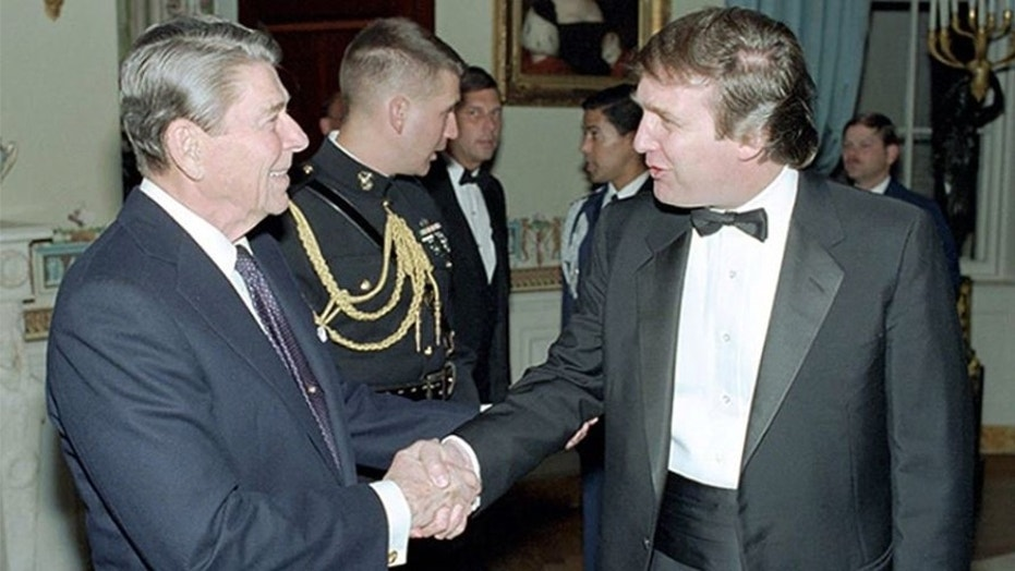 Image result for trump and reagan