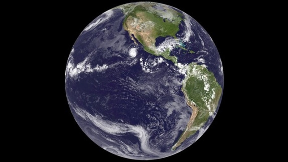 Image of Earth from space from the GOES-14 satellite on September 24, 2012.