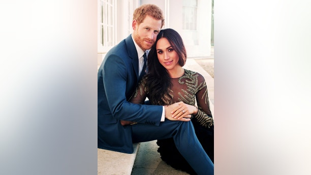 FILE PHOTO: An official engagement photo released by Kensington Palace of Prince Harry and Meghan Markle taken by photographer Alexi Lubomirski, at Frogmore House in Windsor, Britain, December 21, 2017. Picture taken in the week commencing December 17, 2017. Alexi Lubomirski/Courtesy of Kensington Palace/Handout via REUTERS  ATTENTION EDITORS - THIS IMAGE WAS SUPPLIED BY A THIRD PARTY. NO RESALES. NO ARCHIVE./File Photo - RC1A846D8D40