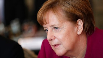 German Chancellor Angela Merkel attends a cabinet meeting as part of a two-day retreat at the government guest house Meseberg castle in Gransee north of Berlin, Germany, Wednesday, April 11, 2018. (AP Photo/Michael Sohn)
