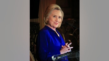 """Hillary Clinton delivers the keynote address at the 8th Annual Elly Award luncheon, after being one three women receiving this year's award on Monday, June 18, 2018, in New York. Clinton on Monday called the Trump administration's """"zero tolerance"""" policy that has separated children from their parents at the southern U.S. border """"a moral and humanitarian crisis.""""Sheila Johnson, Founder and CEO of Salamander Hotels & Resorts and BET co-founder and Deirdre Quinn, CEO and Co-Founder of Lafayette 148 New York, were the other 2018 Elly Award recipients. (AP Photo/Bebeto Matthews)"""