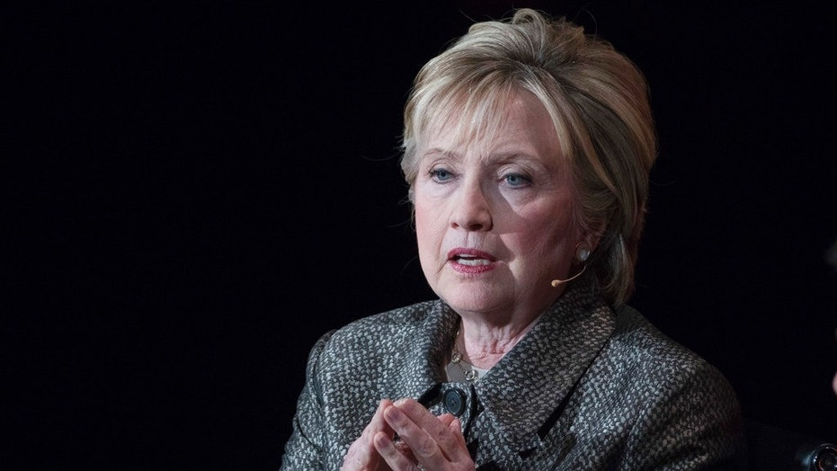 FILE - Former Secretary of State Hillary Clinton speaks in New York.