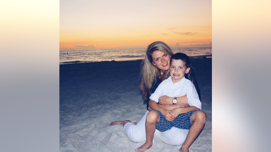 Heather Delaney and her son.