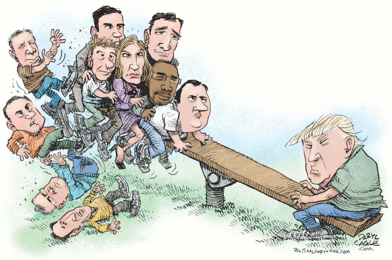 Trump and the GOP See-Saw by Daryl Cagle