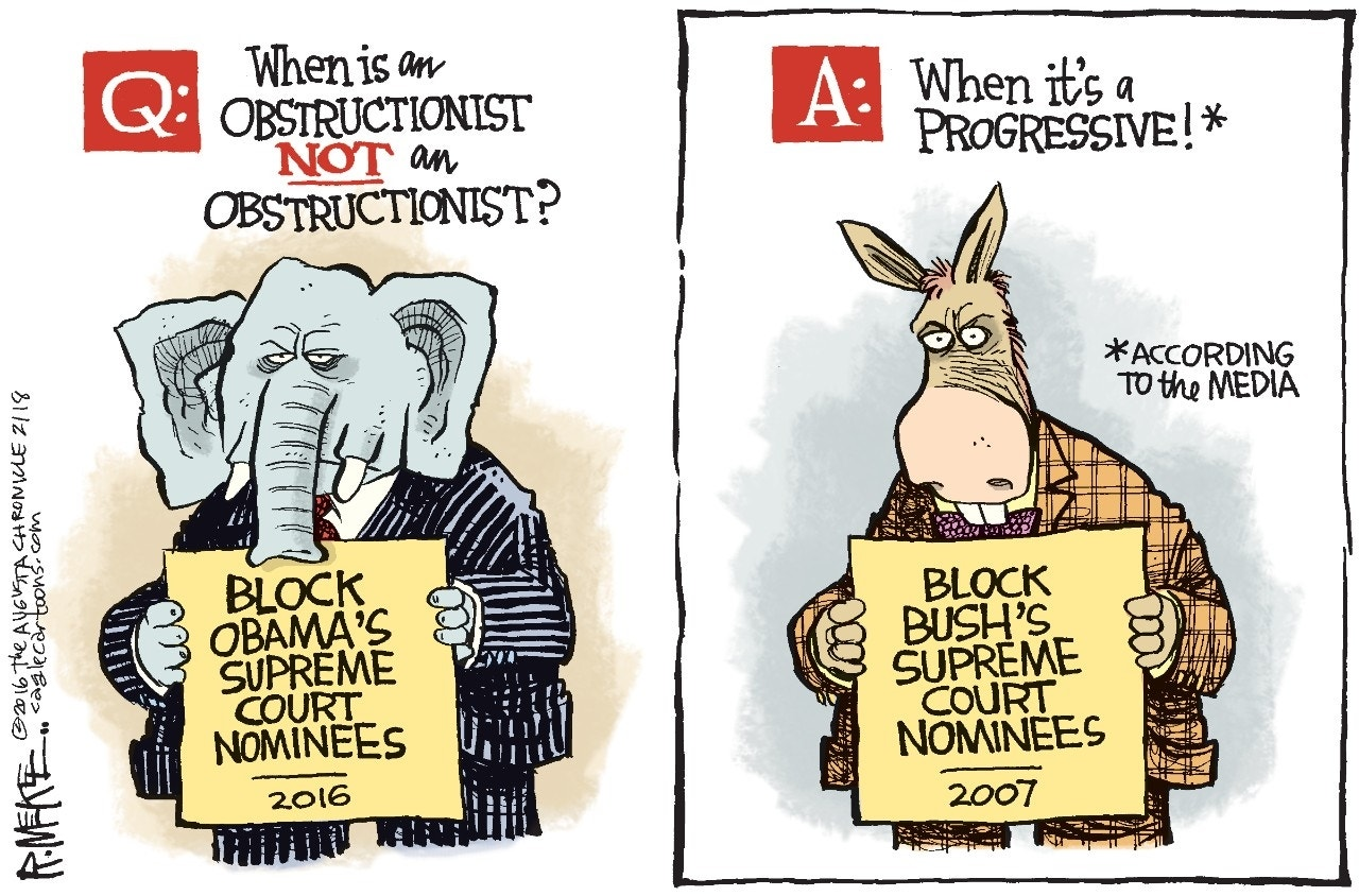 Obstructionist GOP, Rick McKee, The Augusta Chronicle
