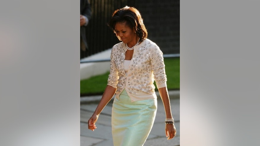 Michelle Obama in London today