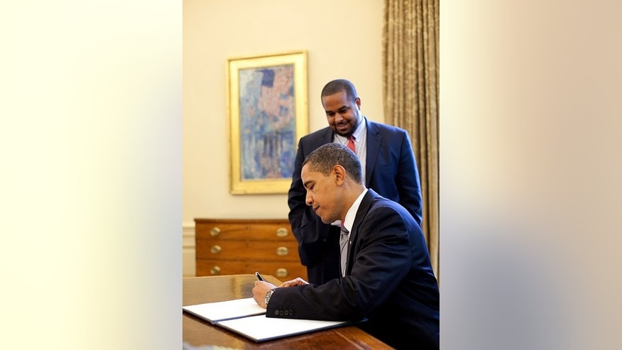President Obama signs the National Prayer Day Proclamation. (White House Photo)