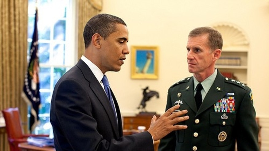 President Obama meets with Lt. Gen. Stanley McChyrstal