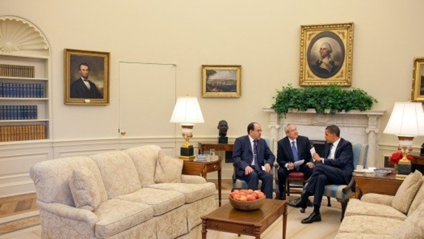 (President Barack Obama meets with Iraqi Prime Minister Nouri al-Maliki, left, in the Oval Office, Wednesday, July 22, 2009. Official White House Photo by Pete Souza)