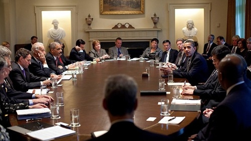 President Barack Obama meets with members of his Cabinet in the Cabinet Room at the White House April 20, 2009. Official White House Photo by Pete Souza