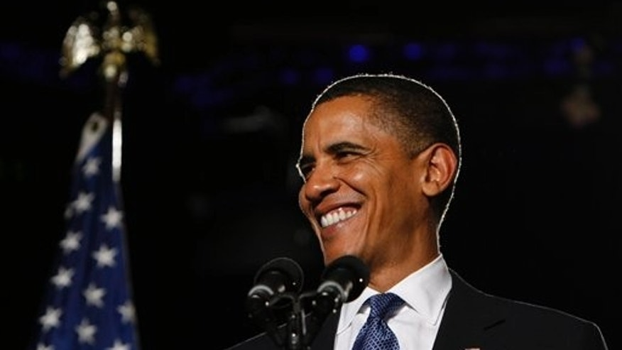 President Obama spoke at a DNC fundraiser in San Francisco last week. AP Photo.