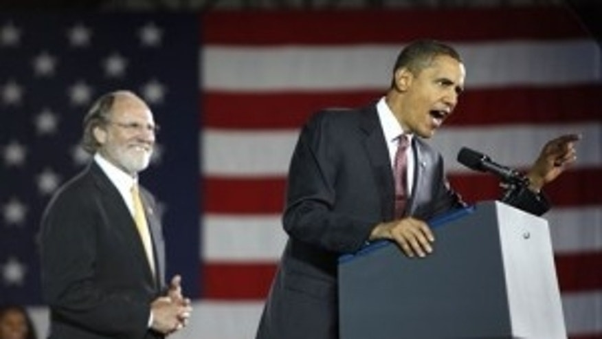 President Obama rallies supporters at a Corzine for Governor Rally in Hackensack, NJ.  AP Photo