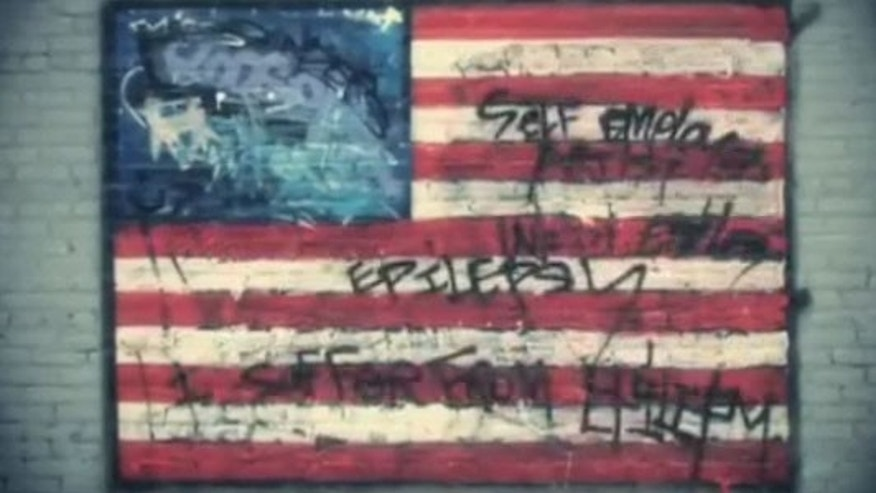 A video depicting the desecration of an American flag is a finalist in a fundraising contest from the Democratic National Committee. (YouTube)