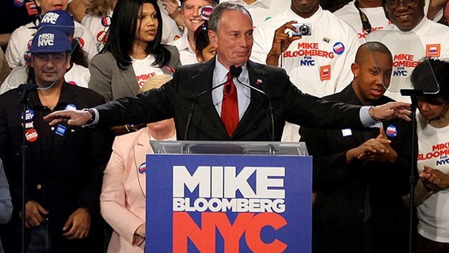 Nov. 3: New York Mayor Michael Bloomberg address supporters after winning reelection at the Sheraton New York. (AP)